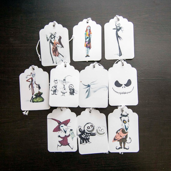 10 Nightmare Before Christmas Gift Tags 3 1/4 x 2 1/8 by ...