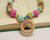 Nursing Necklace,Teething necklace, Babywearing Necklace,chew beads, Breastfeeding Necklace -Style:Tillie