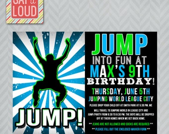 Custom Jump or Trampoline Party Invitation