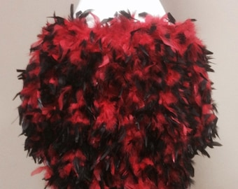 Pick Color: Burlesque Showgirl Saloon Costume Feather Train Skirt Bustle on Quick Release Waist Band