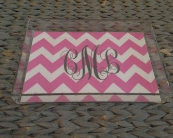 Lucite Tray { With Monogram}