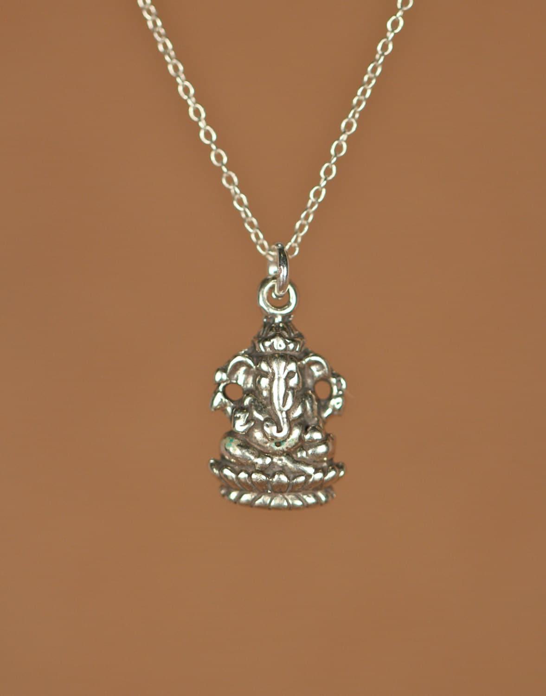 ganesha necklace silver ganesha indian god ganesh