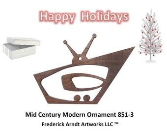 851-3 Mid Century Modern Christmas Ornament