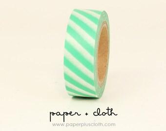 Mint Green Stripes Washi Tape