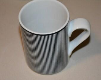 Dansk Bistro Blue Trim Tall Mug