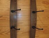 Wine Barrel Stave Coat Rack