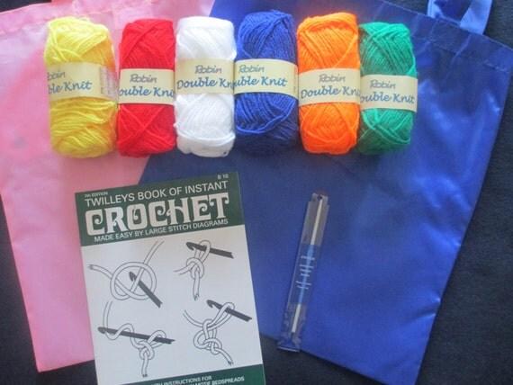 Crochet Kits For Beginners : Childrens - Beginners - Complete Crochet Kit - Set - Yarn, Crochet ...