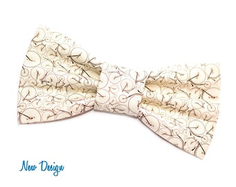 Vintage Bicycle  Bow Tie with Adjustable Strap