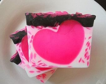 Pink Hearts Soap, Homemade Soap, Glycerin Soap, Heart Soap, Vegan Soap, Dupe Soap, Natural Soap, Homemade Soaps, Soap