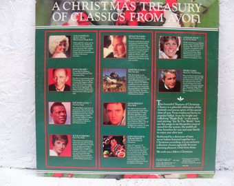 AVON Christmas Classics. 1985. A Christmas Treasury of Vinyl Record Album LP.  VINTAGE