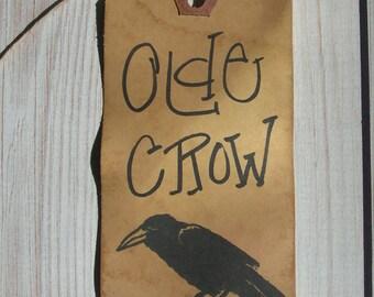 Primitive Hang tag Black Crow rustic farmhouse Olde Crow Gift tag bulk set 500 tags