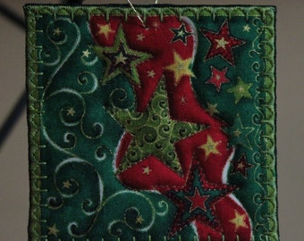 Square Quilted Christmas Ornament