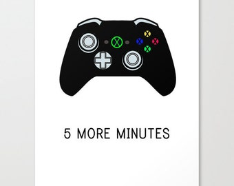 XBOX Video Game Poster - XBOX controller - Video Game Art - Kids Art - Playroom Art