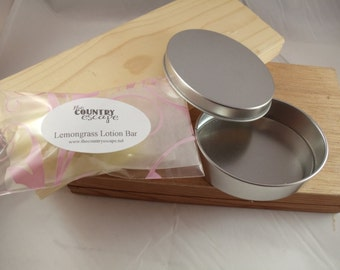 All Natural Lotion Bar w Oval Tin - with Jojoba Oil Cocoa Butter and Shea Butter - No Artificial Ingredients
