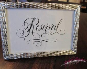 Reserved sign for wedding, digital file