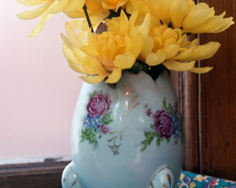 Blue Hand Painted Easter Egg Vase