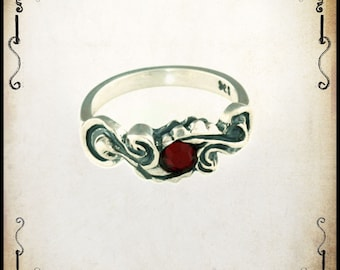 Milady Medieval wedding ring - Sterling silver 925
