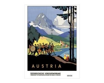 Austria #2 - Vintage Travel Poster