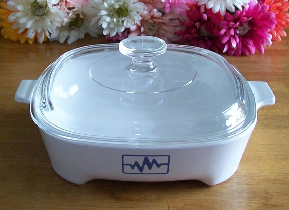 Corning Microwave Brown N Serve Dish With Lid