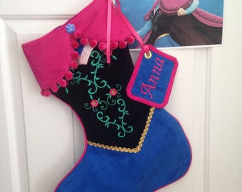 "Disney's Frozen ""Anna"" stocking"