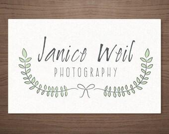 Premade Logo Design for Photographers Emblem Frame - Photography Boutique Wedding Small Business