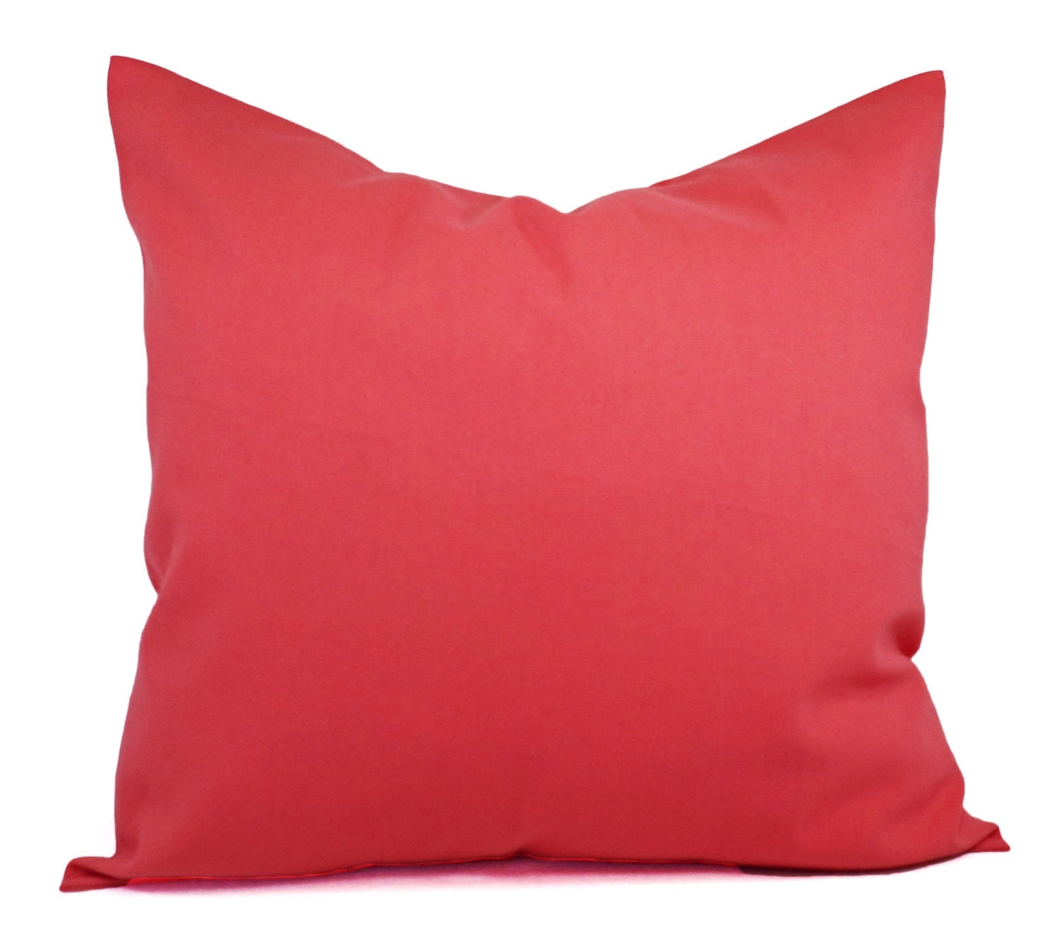 Solid Coral Throw Pillows : Two Solid Coral Throw Pillow Covers Coral by CastawayCoveDecor