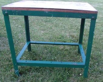Nice sturdy steel work table/kitchen Island