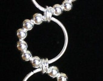 Sterling Silver Plated and Swarovski Crystal Dangle Chainmaille Earring