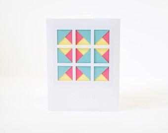 Layered Geometric Thank You Card