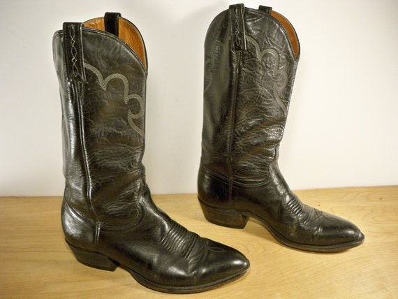 vintage j chisholm black leather cowboy s rancher by