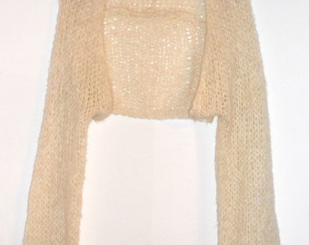 knit women scarf  shrug wool knitted  sleeves