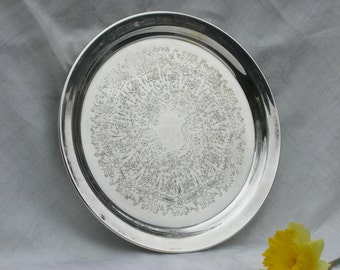 Tray - Reed & Barton - Silver Plate - Round - 10 Inches