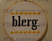 PDF Pattern - blerg. - 30 Rock cross stitch