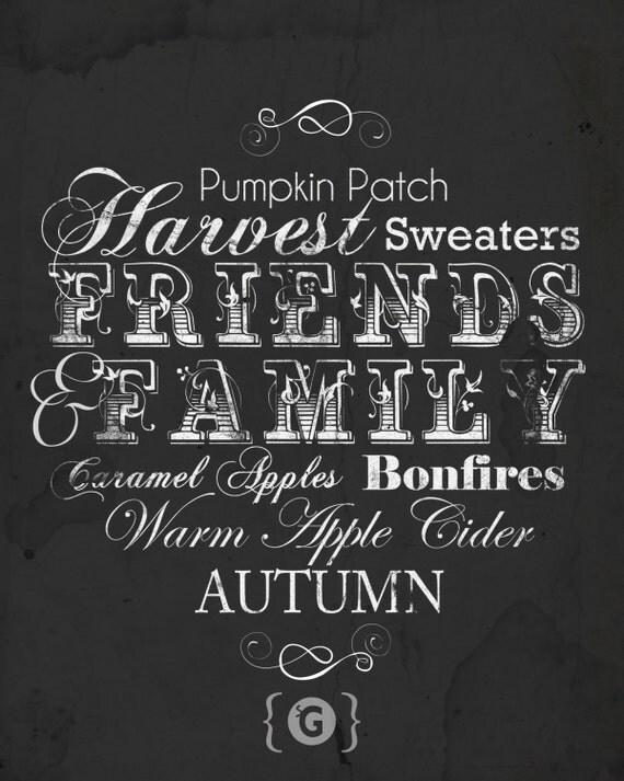 Autumn Fun ChalkBoard Printable from Spilled Glitter.
