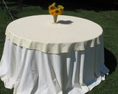 Items Similar To Vintage Round Yellow Tablecloth 60