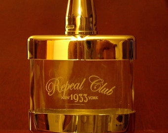 Repeal Club 4.5 ounce Flask by Prohibition Clothing