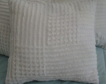 "SALE-Chenille Pillow Cover for 14"" Pillow Insert Was 20.00 Now 15.00"