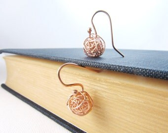 Rose Gold Earrings, Love Knot Earrings, Tie The Knot Earrings, Bridesmaids Gift
