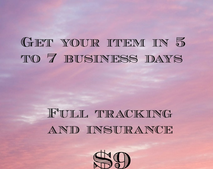 USA shipping upgrade - expedited - insured - 5-7 business days