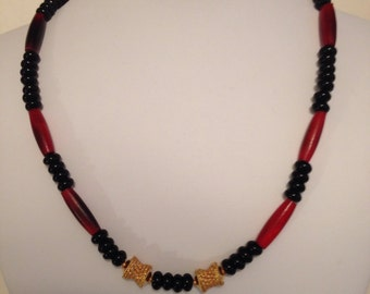 Men's Red Horn Handcrafted Necklace