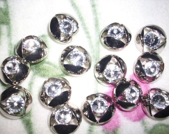 3 buttons with rhinestones (461)