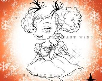 Digital Stamp- Creepmas Girl Mon Amour -300dpi jpeg file - MAC0031