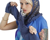 "HOODED SCARF CUTOUT -unisex- ""Aha"""