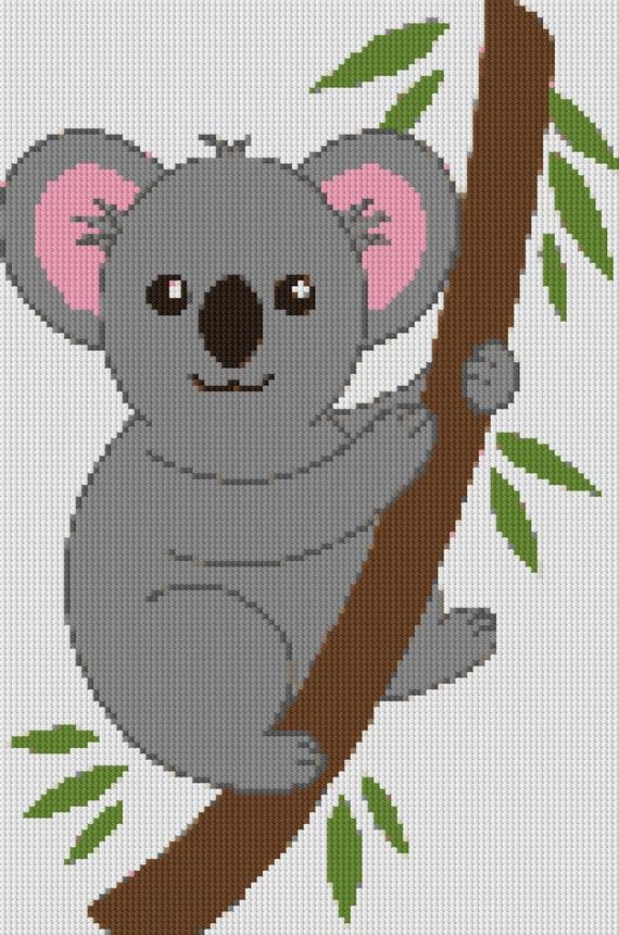 Cute Koala Cross Stitch Pattern From Jellybeandesignsau On