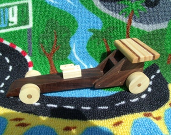 Handmade, eco-friendly, wooden dragster toy car, eco-friendly toys, Handmade wooden toys, Children's wooden toys