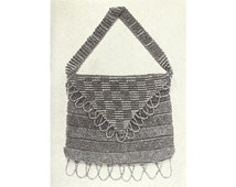 Beaded Envelope Purse Bead Crochet Pattern Instant PDF Download