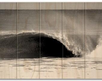 Wave Photo Printed on Sustainable Wood