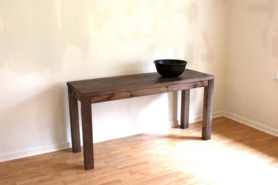 60x20 Reclaimed Wood Parsons Table Console by NorthFieldStore