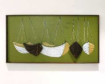 Witco Decor Mid Century Boat Wall Art
