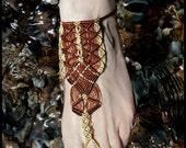 Macrame barefoot sandal, ...